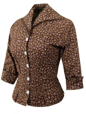 Raglan Blouse Autumn Leaf Brown