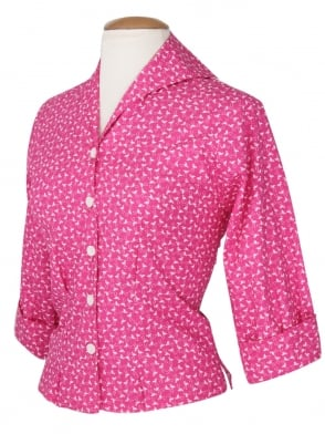 Raglan Blouse Flamingo