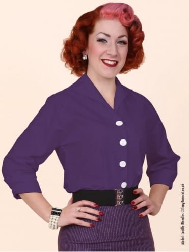 50s-1950s-Vivien-of-Holloway-Best-Vintage-Reproduction-Raglan-Blouse-Green-Cotton-Rockabilly-Swing-Pinup
