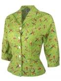 Raglan Blouse Scarecrow Green