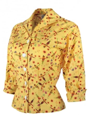Raglan Blouse Scarecrow Yellow