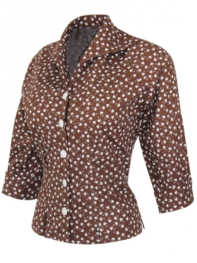 Raglan Blouse Umbrella Brown