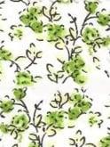 Raglan Blouse White Green Floral