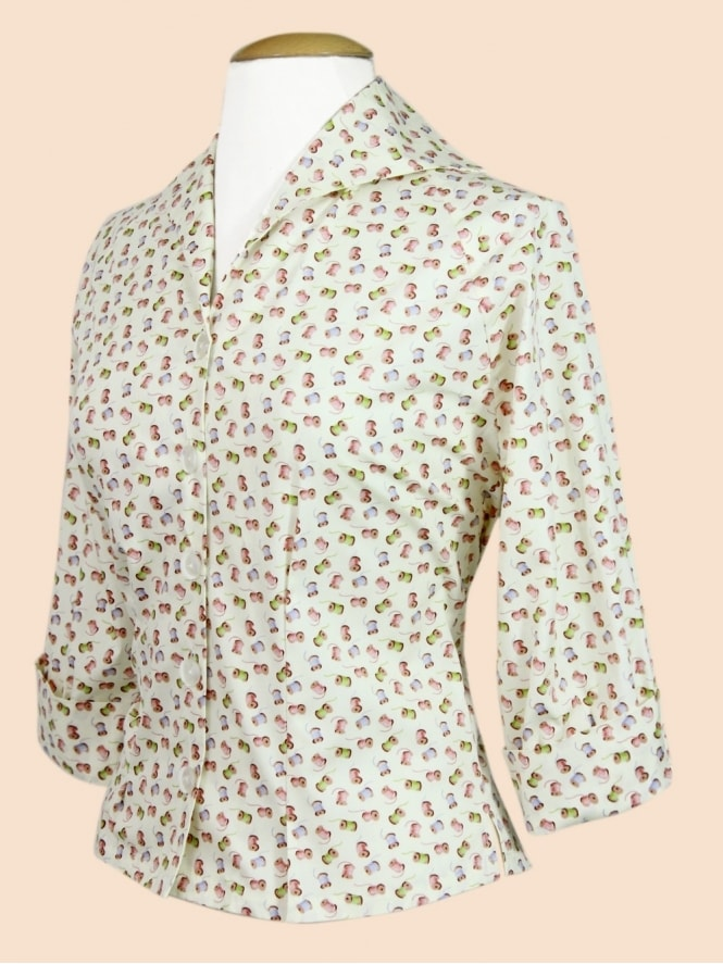 50s-1950s-Vivien-of-Holloway-Best-Style-Vintage-Reproduction-Raglan-Blouse-Cream-Cotton-Reels-Rockabilly-Swing-Pinup