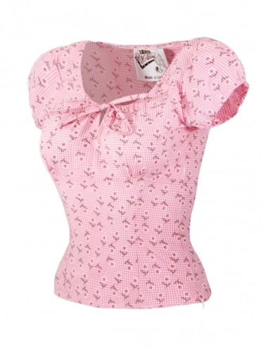 Rio Top Daisy Gingham Pink