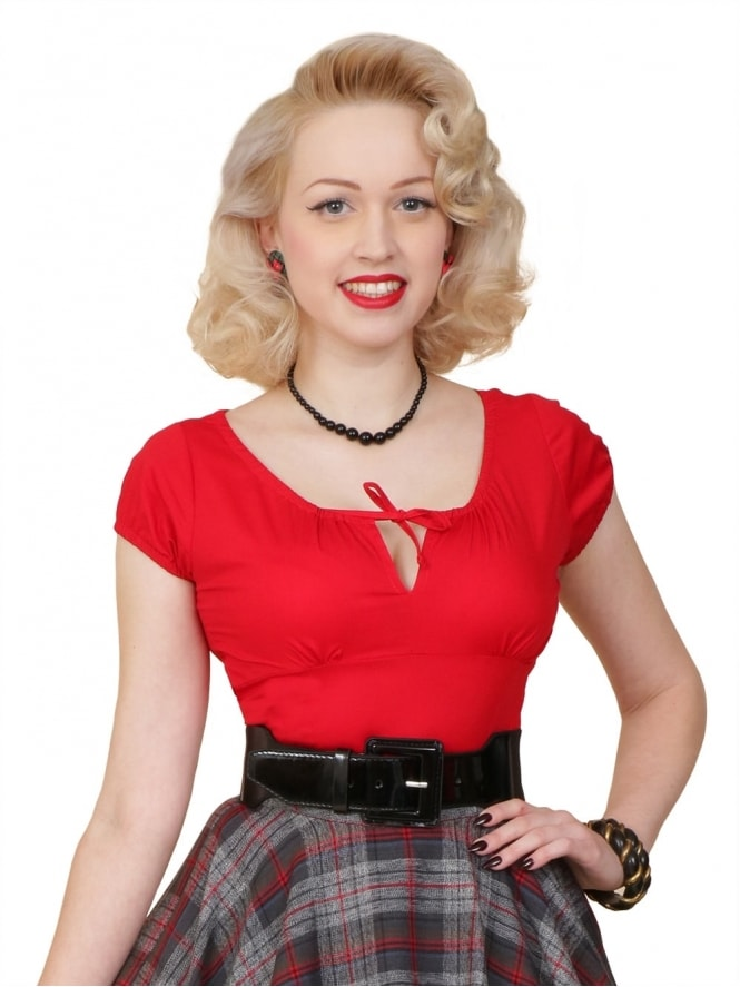 40s-1940s-Vivien-of-Holloway-Best-Vintage-Style-Reproduction-Repro-Rio-Top-Red-Cotton-Rockabilly-Swing-Pinup