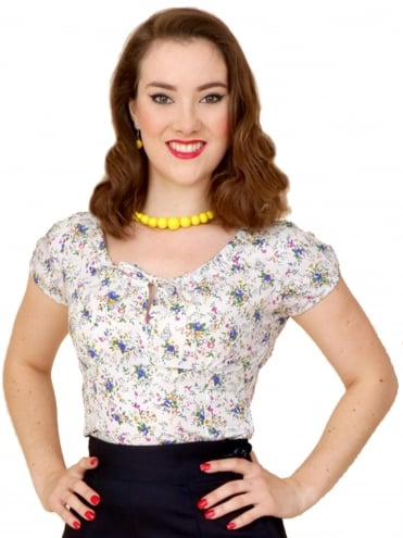 40s-1940s-Vivien-of-Holloway-Best-Vintage-Style-Reproduction-Repro-Rio-Top-Wildflower-Floral-Print-Cotton-Rockabilly-Swing-Pinup