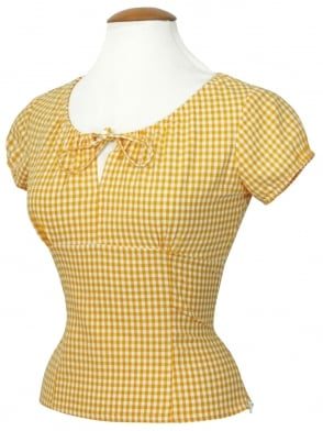 Rio Top Yellow Gingham