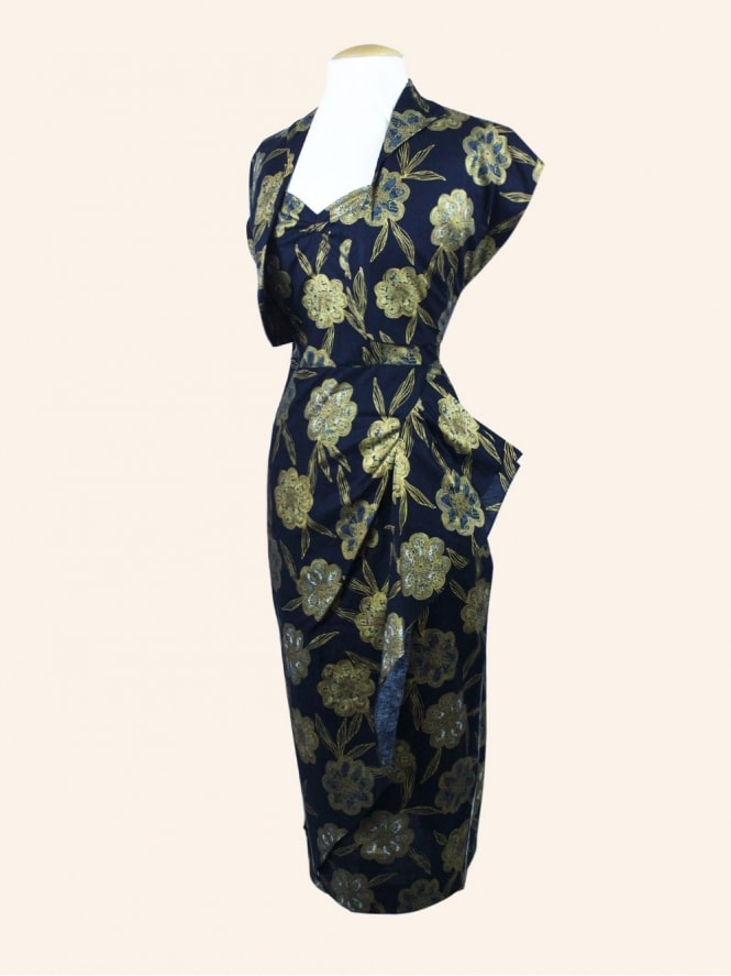 50s-1950s-Vivien-of-Holloway-Best-Vintage-Style-Reproduction-Repro-1940s-Sarong-Dress-Arabian-Nights-Rockabilly-Swing-Pinup