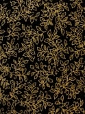 Sarong Black Golden Leaves