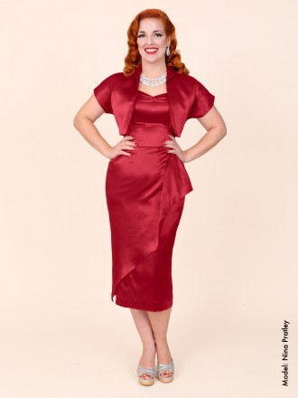 40s-1940s-Vivien-of-Holloway-Best-Vintage-Reproduction-Sarong-Bolero-Set-Dark-Red-Burgundy-Satin-Hollywood-Starlet-Pinup