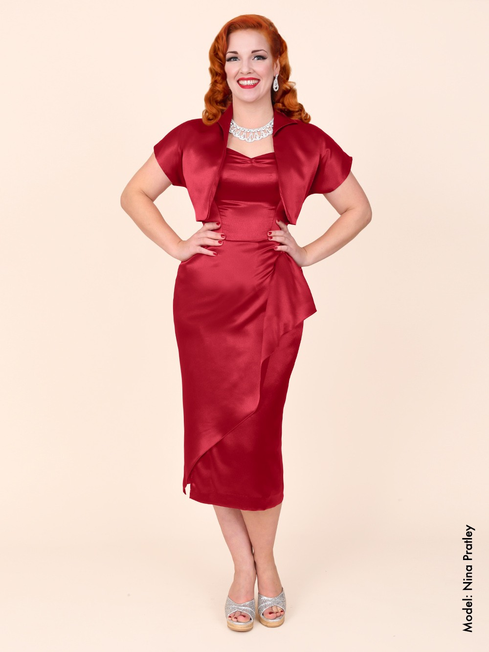 Tara Starlet 1940s 40s Style: 1940s Sarong Burgundy Satin From Vivien Of Holloway