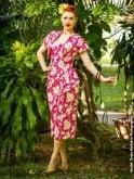 Sarong Frangipani Pink Set