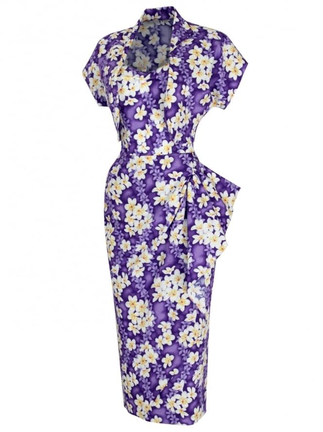 40s-1940s-Vivien-of-Holloway-Best-Vintage-Reproduction-Sarong-Bolero-Set-FrangipaniPurple-Tiki-Hollywood-Starlet-Pinup