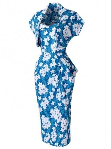 Sarong Frangipani Turquoise Set