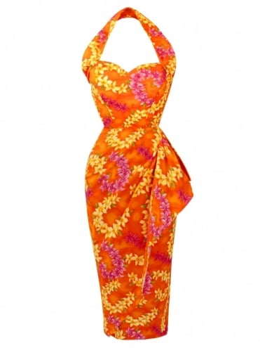 Sarong Garland Orange Bolero Set
