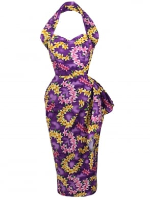 Sarong Garland Purple Bolero Set