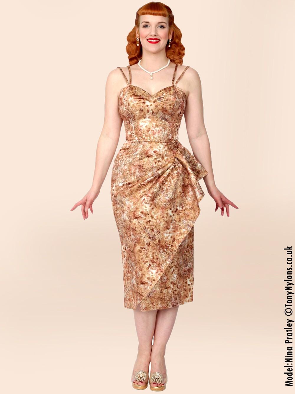 Gold 40s dress