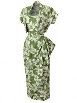 Sarong Green Tiki