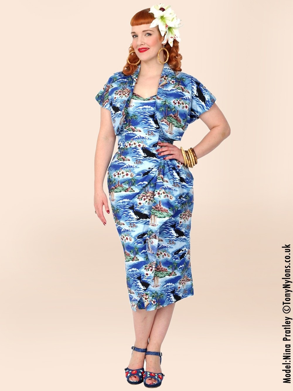1940s Sarong Hawaiian Royal from Vivien of Holloway