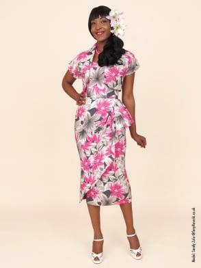 Sarong Hibiscus Linen