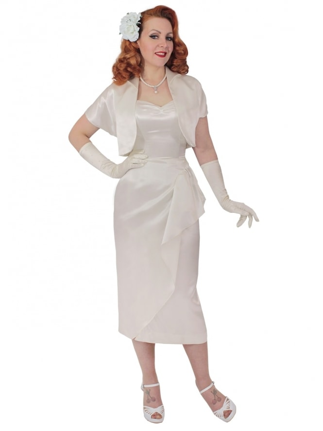 40s-1940s-Vivien-of-Holloway-Best-Vintage-Reproduction-Sarong-Bolero-Set-Wedding-Ivory-Satin-Hollywood-Starlet-Pinup