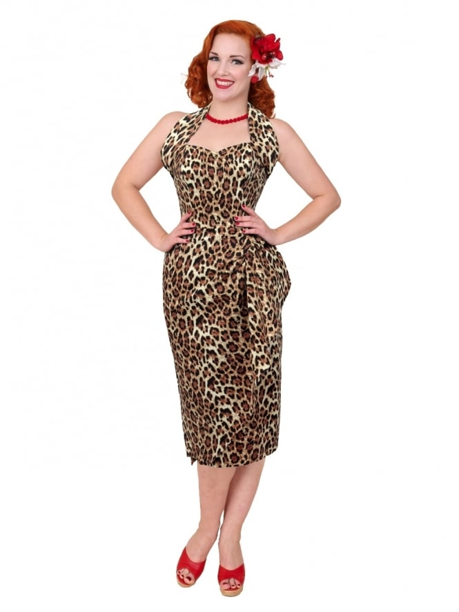 40s-1940s-Vivien-of-Holloway-Best-Vintage-Reproduction-Sarong-Bolero-Set-Leopard Lilly-Tiki-Hollywood-Starlet-Pinup