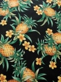 Sarong Pineapple Black Set