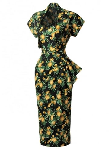 40s-1940s-Vivien-of-Holloway-Best-Vintage-Reproduction-Sarong-Bolero-Set-BlackPineapple-Tiki-Hollywood-Starlet-Pinup