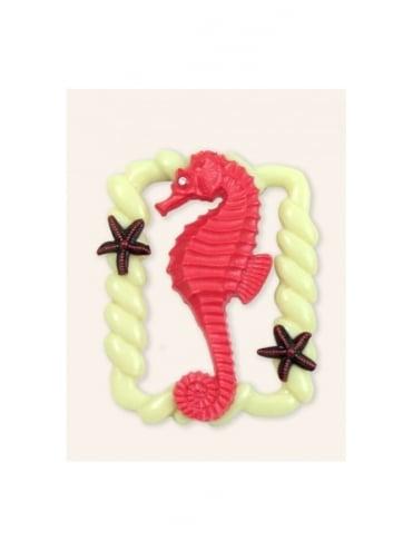 Seahorse Coral Brooch