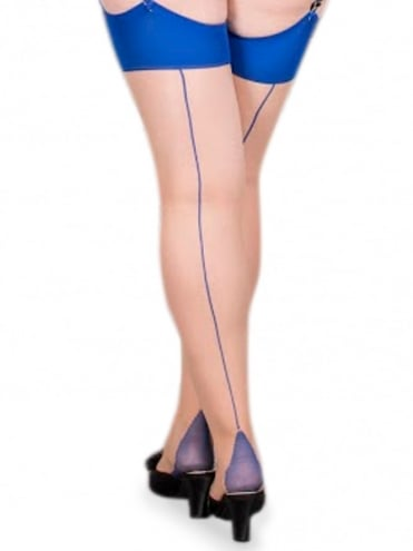 Seamed Stockings Blue Glamour