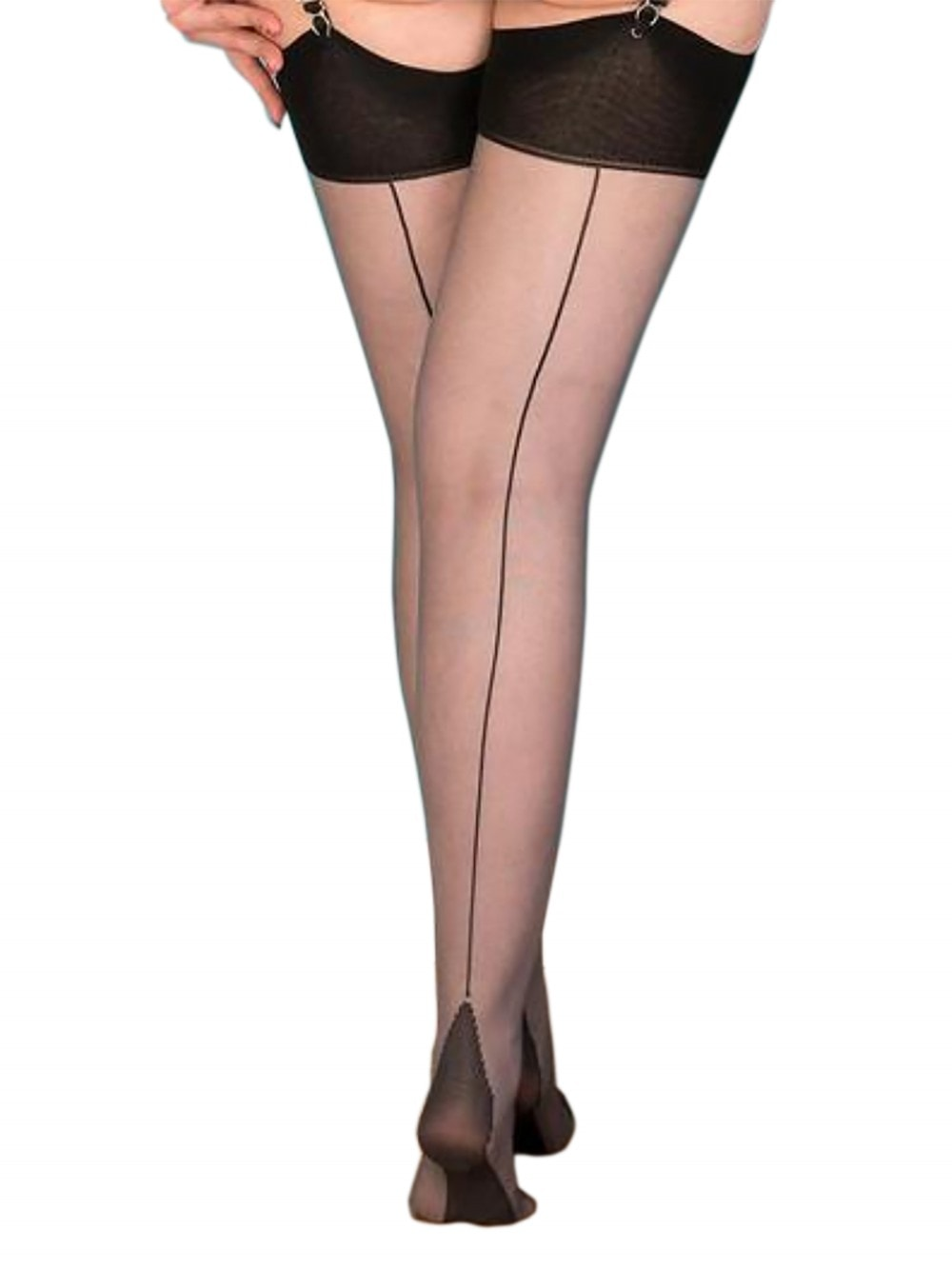 3629fefc0a2 Seamed Stockings Grey Glamour from Vivien of Holloway