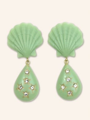 Seashell Teardrop Earrings