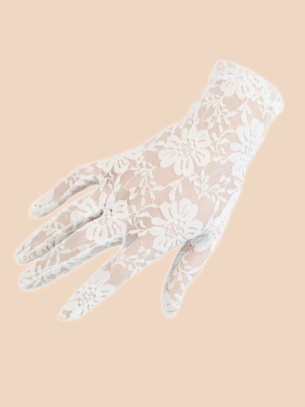 short gloves white lace from vivien of holloway