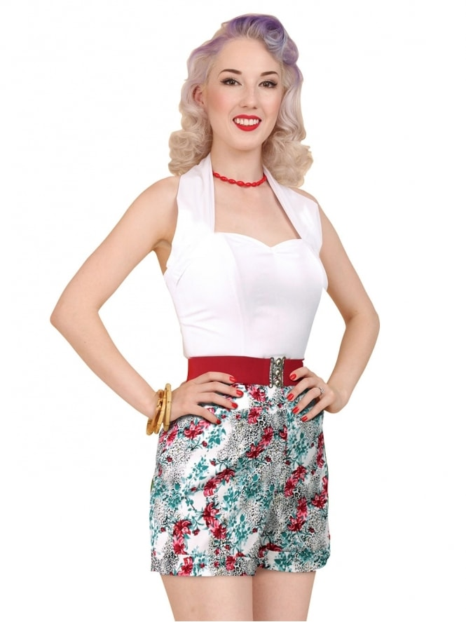 40s-50s-1940s-1950s-Vivien-of-Holloway-Best-Vintage-Style-Reproduction-Repro-Shorts-Leopard-Lily-Swing-Pinup-Rockabilly
