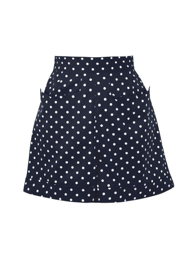 40s-50s-1940s-1950s-Vivien-of-Holloway-Best-Vintage-Style-Reproduction-Repro-Shorts-Navy-White-Spot-Swing-Pinup-Rockabilly
