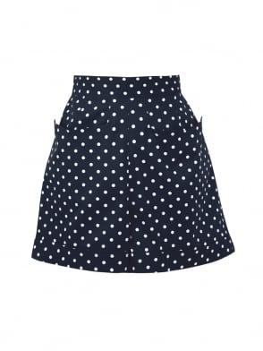 Shorts Navy White Spot