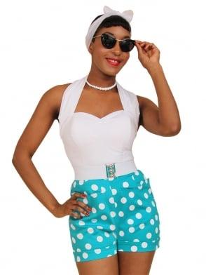 Shorts Turquoise Polka