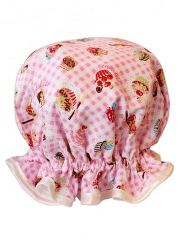 Shower Cap Cupcake Pink