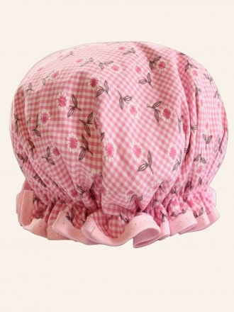 Shower Cap Daisy Gingham Pink