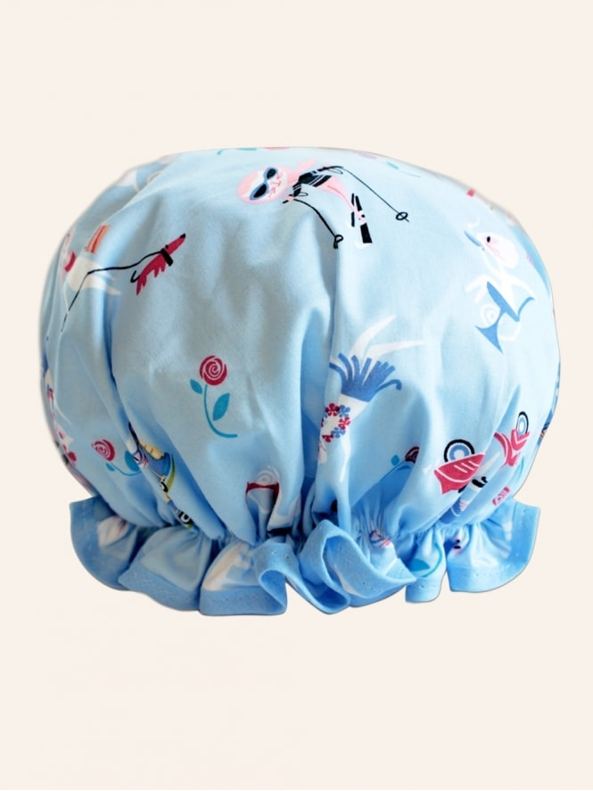 50s-1950s-Vivien-of-Holloway-Best-Vintage-Reproduction-Kitten-Blue-Shower-Cap-Rockabilly-Swing-Pinup