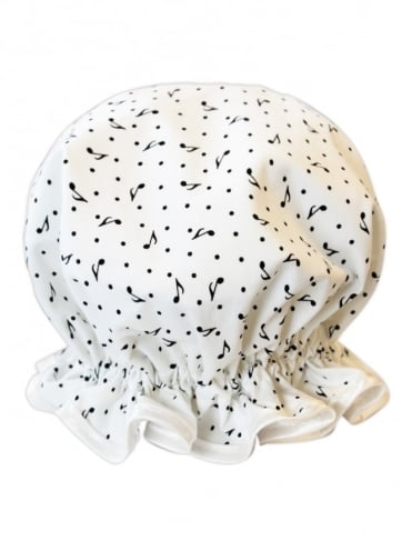 Shower Cap Music Note White