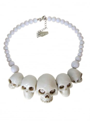 Skull White Necklace
