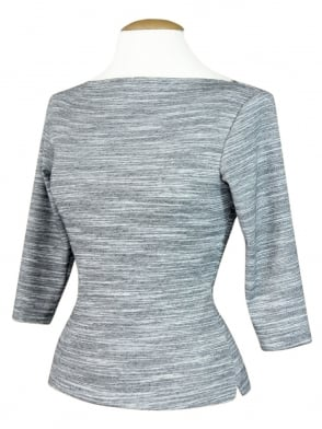 Slash Neck Stone Light Grey Jersey