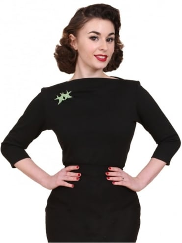 50s-1950s-Vivien-of-Holloway-Best-Vintage-Style-Reproduction-Repro-Slash-Neck-Top-Black-Jersey-Rockabilly-Swing-Pinup