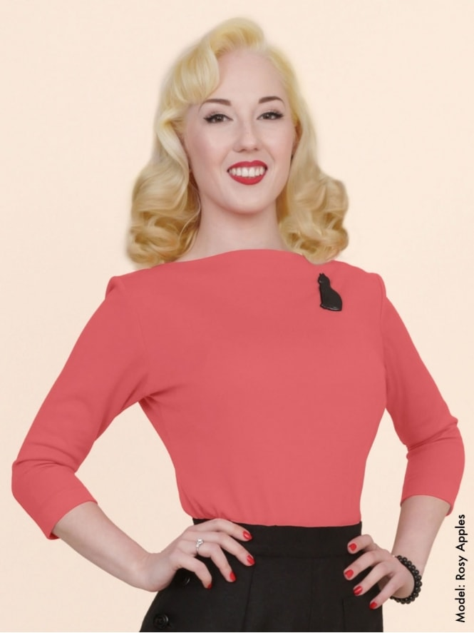 50s-1950s-Vivien-of-Holloway-Best-Vintage-Style-Reproduction-Repro-Slash-Neck-Top-Coral-Rockabilly-Swing-Pinup
