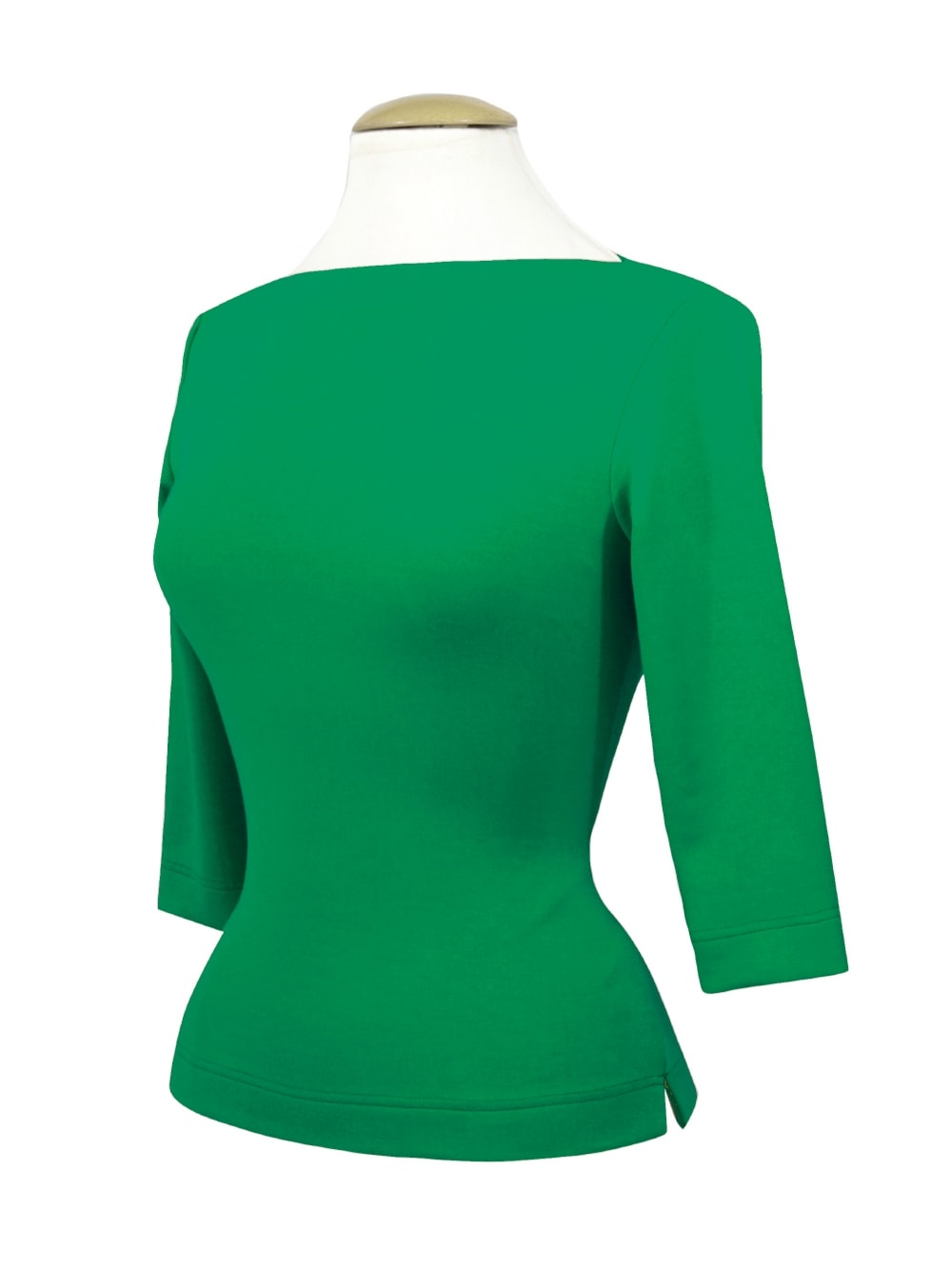 c985c38ab0359b Slash Neck Top Emerald Jersey from Vivien of Holloway