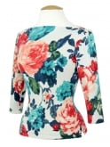 Slash Neck Top Floral