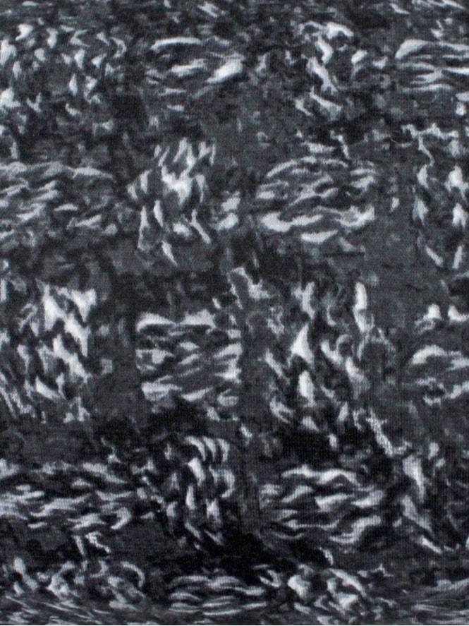 Slash Neck Top Grey Weave