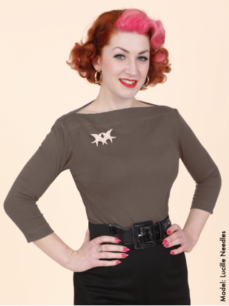 50s-1950s-Vivien-of-Holloway-Best-Vintage-Style-Reproduction-Repro-Slash-Neck-Top-Marle-Brown-Jersey-Rockabilly-Swing-Pinup